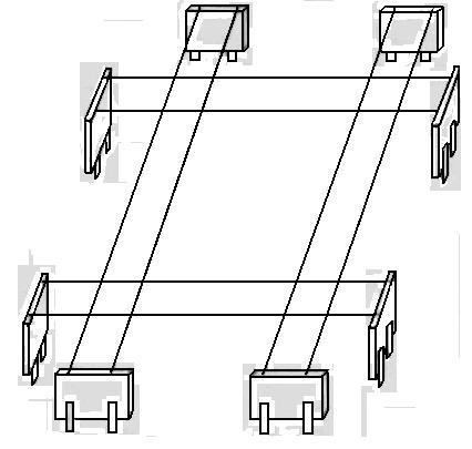 Пользуясь рулеткой и угломерным инструментом, расстояние между осями стен гаража, перенесите на обноску и в...
